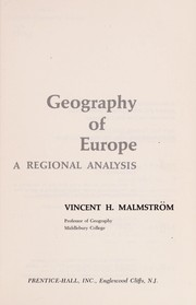 Cover of: Geography of Europe