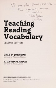 Cover of: Teaching reading vocabulary