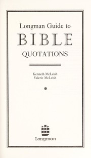 Cover of: Longman guide to Bible quotations