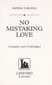 Cover of: No mistaking love | Moyra Tarling