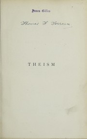Cover of: Theism
