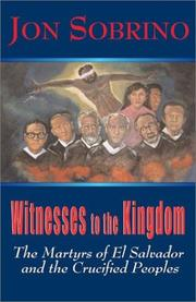 Cover of: Witnesses to the Kingdom | Jon Sobrino