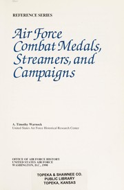 Cover of: Air Force combat medals, streamers, and campaigns