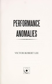 Cover of: Performance anomalies | Victor Robert Lee