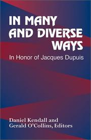 Cover of: In many and diverse ways