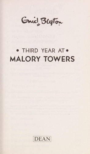 Third year at Malory Towers by Enid Blyton