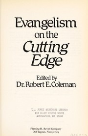 Cover of: Evangelism on the cutting edge | edited by Robert E. Coleman.