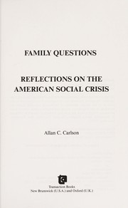 Cover of: Family questions