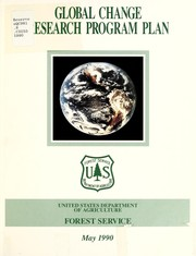 Cover of: Global Change Research Program plan | United States. Forest Service