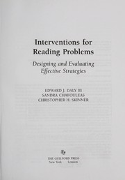 Cover of: Interventions for reading problems | Edward J. Daly