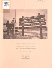 Cover of: Northwest Watershed Research Center, Reynolds Creek Experiment Station