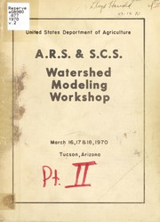 A.R.S. & S.C.S. Watershed Modeling Workshop