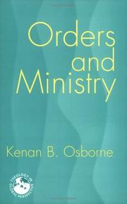 Cover of: Orders and ministry