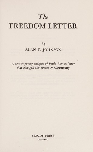 The freedom letter by Alan F. Johnson