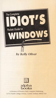 Cover of: The complete idiot's pocket guide to Windows
