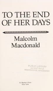 Cover of: To the end of her days
