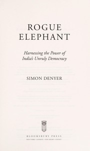 Cover of: Rogue elephant | Simon Denyer