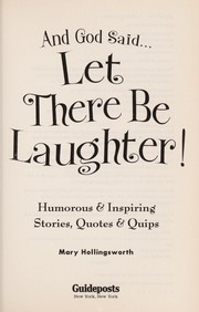 Cover of: And God SaidàLet There Be Laughter