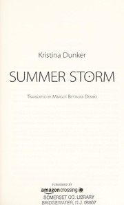 Cover of: Summer storm | Kristina Dunker
