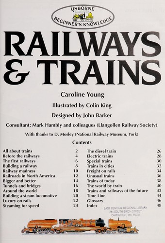 Railways and Trains (Usborne Beginner's Knowledge) by Caroline Young