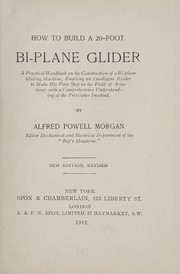 Cover of: How to build a 20-foot bi-plane glider