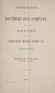 Cover of: Prospects of the Southern Zinc Company | William P. Blake