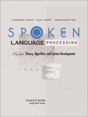 Cover of: Spoken Language Processing | Xuedong Huang