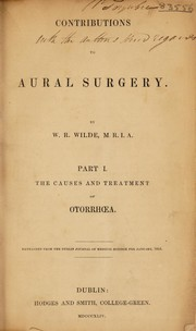 Contributions to aural surgery