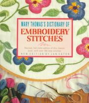 Dictionary of embroidery stitches by Thomas, Mary