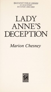 Cover of: Lady Anne's Deception