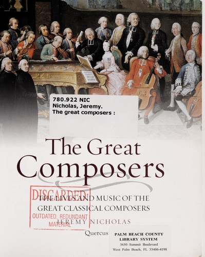 The great composers by Jeremy Nicholas