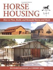 Cover of: Horse Housing | Richard Klimesh
