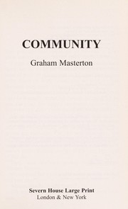 Cover of: Community | Graham Masterton