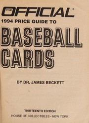 Cover of: Baseball Cards, 13th edition (Official Price Guide to Baseball Cards (Beckett))
