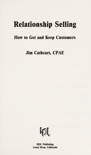 Relationship Selling by Jim Cathcart