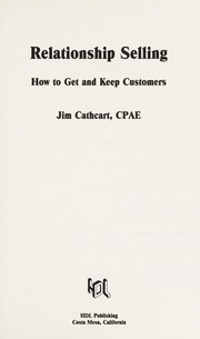 Cover of: Relationship Selling | Jim Cathcart
