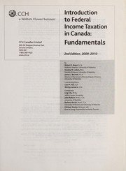 Cover of: Introduction to Federal Income Taxation in Canada | Robert E. Beam