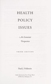 Cover of: Health policy issues | Paul J. Feldstein