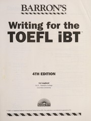 Cover of: Writing for the TOEFL iBT