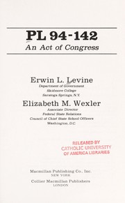 Cover of: PL94-142 | Erwin L. Levine