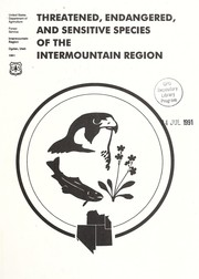 Cover of: Threatened, endangered, and sensitive species of the Intermountain region |