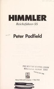 Cover of: Himmler | Peter Padfield