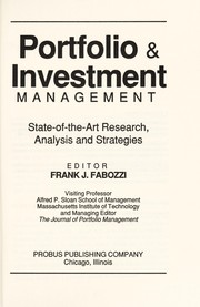 Cover of: Portfolio & investment management |