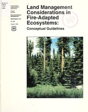 Cover of: Land management considerations in fire-adapted ecosystems |