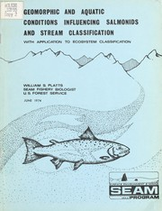 Cover of: Geomorphic and aquatic conditions influencing salmonids and stream classification