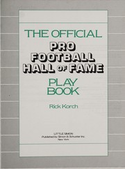 Cover of: The official Pro Football Hall of Fame play book | Rick Korch