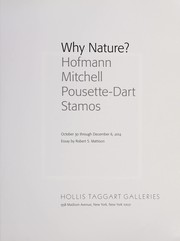 Cover of: Why nature?