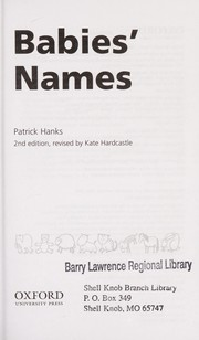 Cover of: Babies' names
