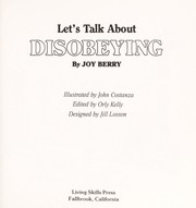 Cover of: Disobeying