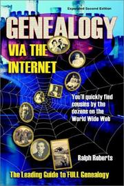 Cover of: Genealogy Via the Internet: You'll Quickly Find Cousins by the Dozens on the World Wide Web (Genealogy Via the Internet: You'll Quickly Find Cousins by the Dozon)